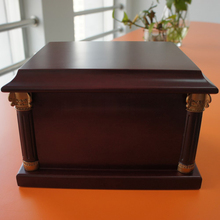 MKY New 2016 Wood Coffin Box Cremation Urns Funeral Casket