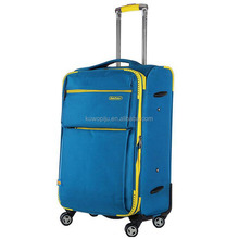 new design fabric 4 piece suitcase Luggage expandable soft Suitcase