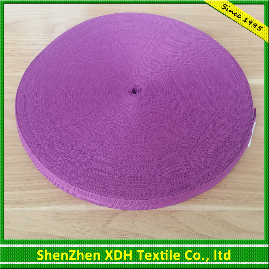 Factory price color 25mm nylon coated webbing for cover