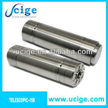 2013 Sigelei Telescope mod 19b 18650 Battery Tube style no pc Stainless Mechanical Mod telescope bagua mod with factory price
