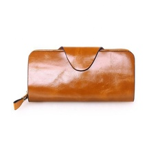2019 Genuine Leather Zipper Clutch Long Section Unisex Wallet