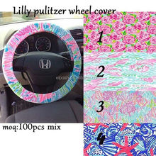 Lilly Pulitzer Fabric Steering Wheel Cover