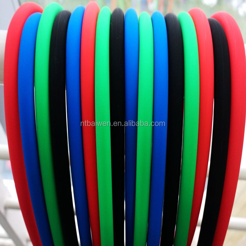 Soft touch hookah silicone hose with matte surface