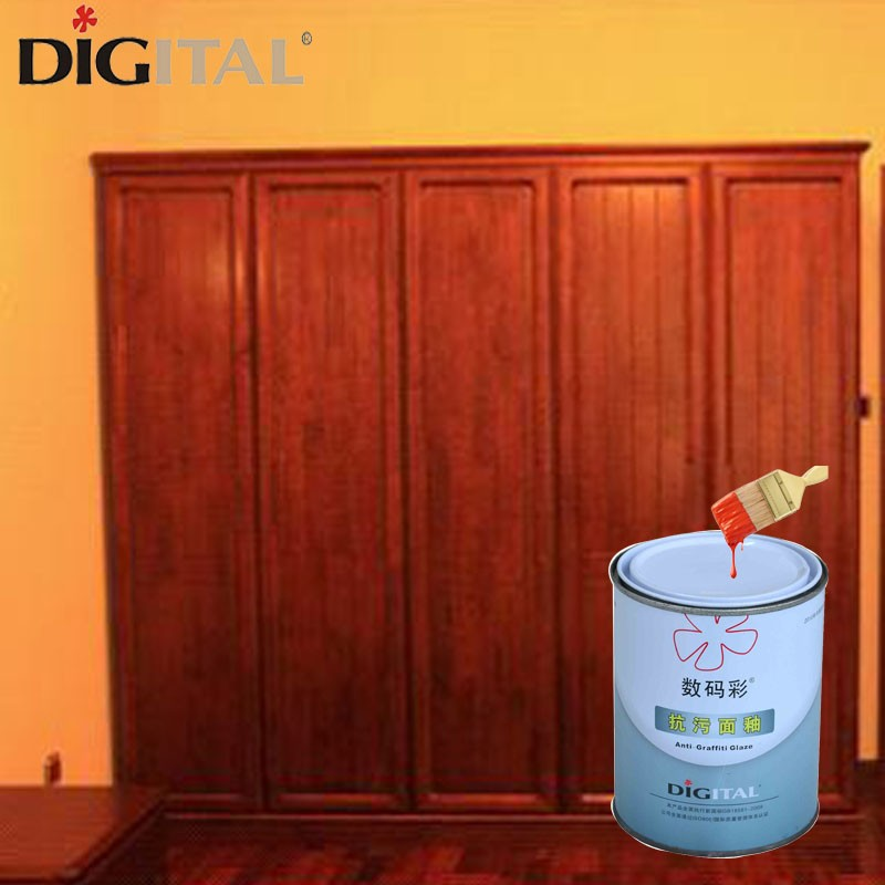 Two component high gloss finish wood furniture coating