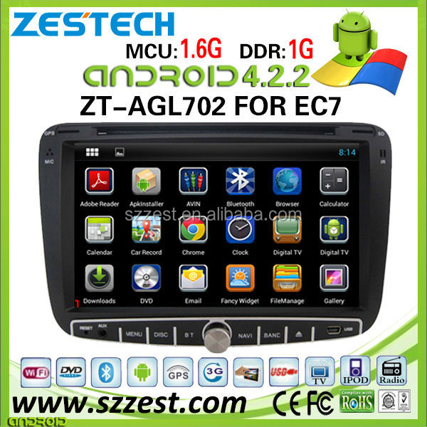 ZESTECH 4.2.2 android media player car dvd gps for geely emgrand ec7 car dvd gps with 3G Wifi mp5 player