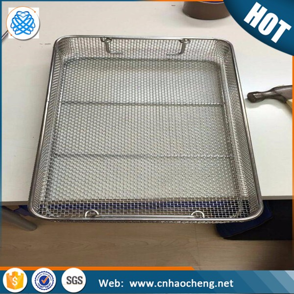 304 stainless steel mesh basket for surgical Instruments