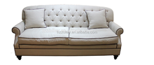 Antique Italian Style Inflatable Chesterfield Sofa With Low Armrest