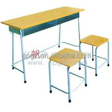 Professional suppliers of school desks and chairs,two seater wooden school furniture desk and chair,double desk and chair