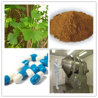 100% Natural ginkgo biloba leaf extract from GMP factory