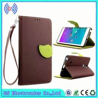 Leather Case For Lenovo Yoga B6000 Factory Wholesale Leaf Style PU Wallet Leather Mobile Phone Leather Case