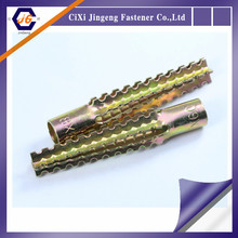 yellow galvanized expansion saw wood concrete anchor bolt