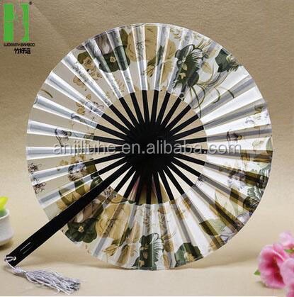 Japaneae bamboo handicraft product round folding fan