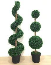 High Quality Custom Artificial Topiary Trees Artificial Boxwood Spiral Tree