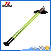 Carbon 3 sections custom telescopic foldable cane nordic walking stick rubber tips for disable