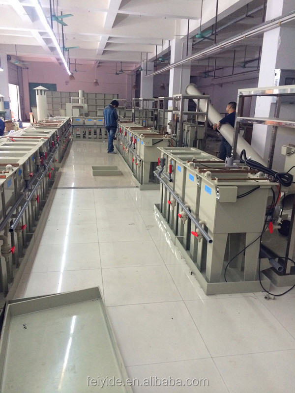 Feiyide Manual Rack Chrome Plating Line for copper nickel zinc plating Machine