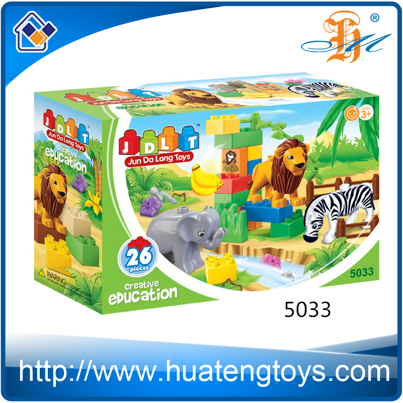 New Childrens Educational Big ABS Plastic Building Blocks Toys