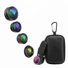 2018 Universal Ultra Wide Angle Fisheye Macro Mobile Phones Smartphone Camera 5 in 1 Lens Kit