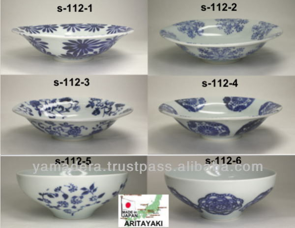 Orient pattern grade A porcelain plate S-112-1 tableware for home use made in japan ARITAYAKI SOMETSUKE