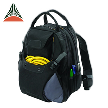Large Capacity 600d Polyester Multi-Pocket Backpack Electrician Storage Tool Bag
