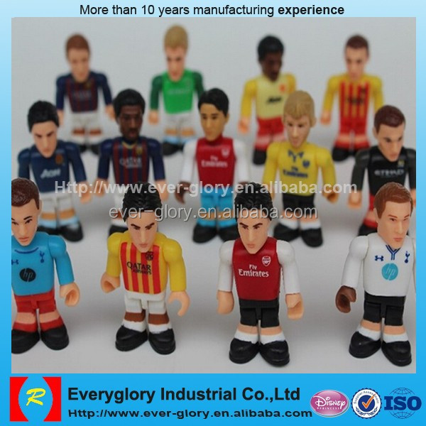 small football super star/football player pvc figure/OEM pvc figure