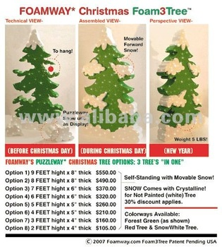 Foamway Christmas Foam Trees