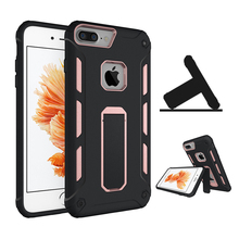 Cell Phone Cases Manufacturer Shockproof PC+TPU Hybrid Stand Cover for iPhone 7 Plus