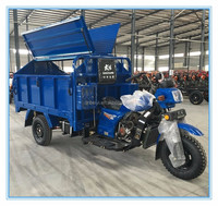 single cylinder 4 stroke open body three wheeler hydraulic garbage motocicleta for sale in Peru