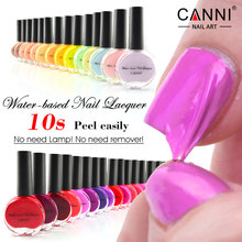 51108 CANNI Nail Art Peelable Nail Varnish OEM 38 Colors Water Based Gel Effect Organic Middle East Halal Islamic Nail Polish