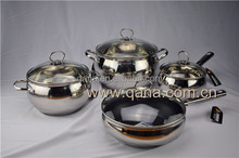 New design apple shape cooking pots Russian hot sale stainless steel cookware set