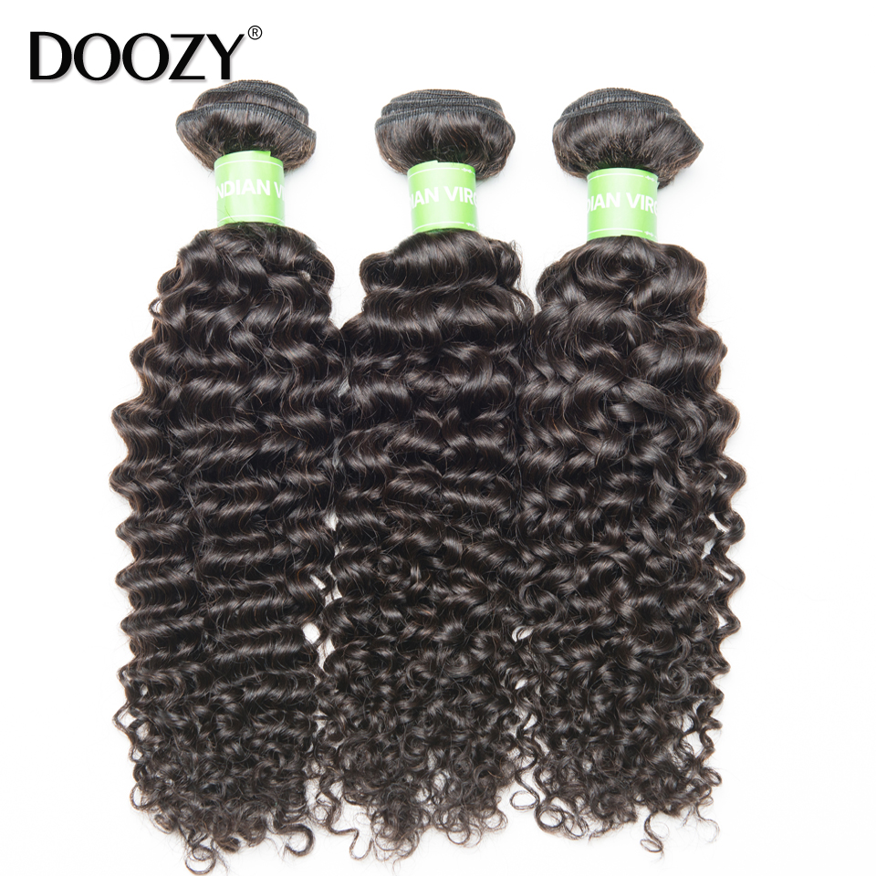 Doozy Italian curly remy human hair extensions raw virgin indian hair