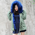 CX-G-P-05N Winter Warm Genuine Fox Fur Coat Women Real Fur Parka