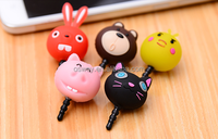 Cute Pig Head Headphone Earphone Jack Anti Dust Plug For iPhone 4 4S 5 5S 5C 6 6Plus