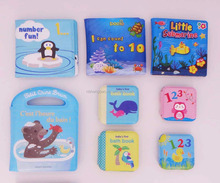 High quality harmless soft EVA waterproof baby bath book,education baby bath book