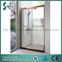 stainless steel sliding tempered glass showers door with screen type