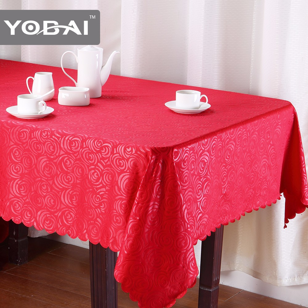 Neoprene Table Cover Party Oriental Embossed Design Tablecloth