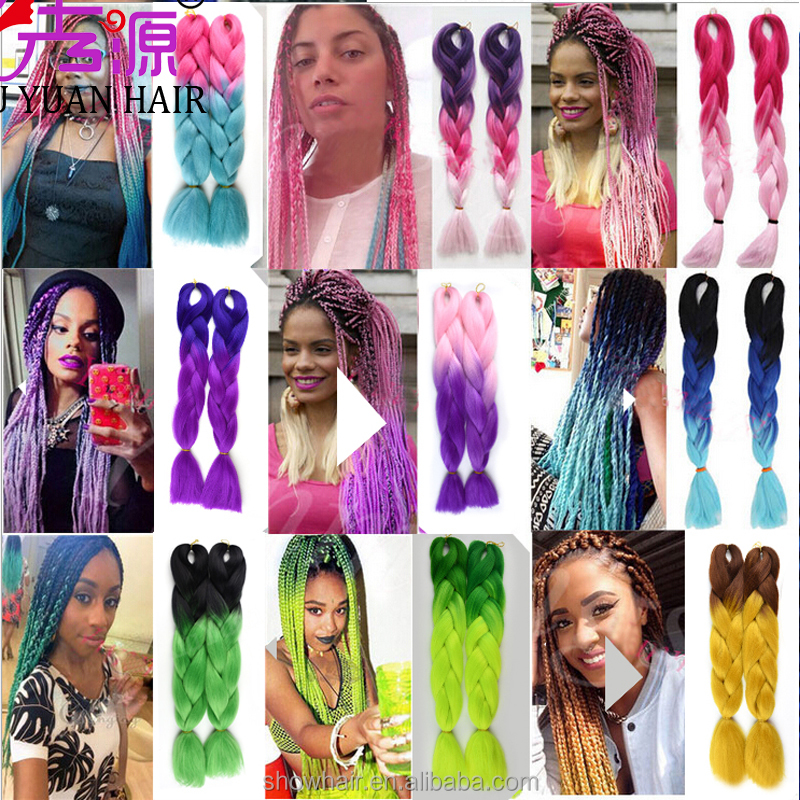 Cheap wholesale high quality synthetic hair extension soft 2/3 tone ombre jumbo braid synthetic braiding hair