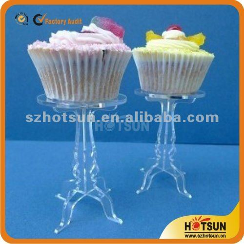 transparency acrylic mini cupcake cup cake stand