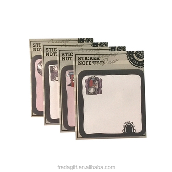 Memo pads recycled style sticky notes shape set