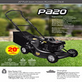 20 inch push Aluminium deck flail lawn mower with petrol engine with 4mm thickness