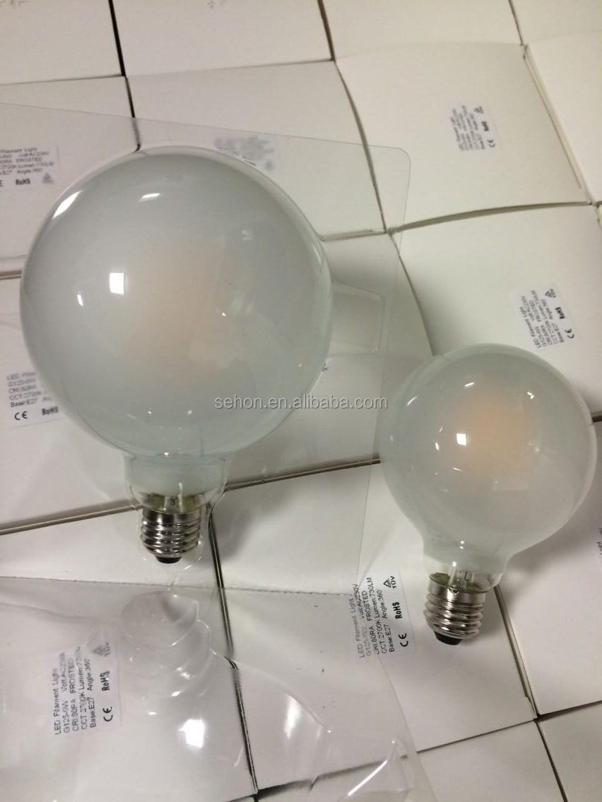 neuank mmling matt milchglas abdeckung globus g125 dimmbare led gl hlampe led birnen lichter. Black Bedroom Furniture Sets. Home Design Ideas