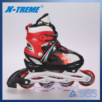 The new arrived pu wheel inline roller blade shoes