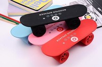 Mini Portable Skateboard Speaker Scooter Wireless Bluetooth Stereo MP3 Music Player Handsfree Car Call Subwoofer Speaker