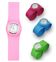 slap watch with silicone strap