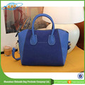 Korean Designer Ladies Mauve Leather Handbags Smile Tote Handbags
