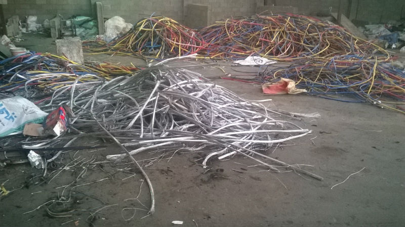 Scrap aluminum, Car engines and gear boxes, Wire and cable, and Kitchen utensils.