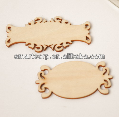 wood veneer labels, wooden flourish scrapbooking card craft embellishments