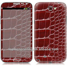 Leather like cell phone skin sticker for samsung galaxy note 3