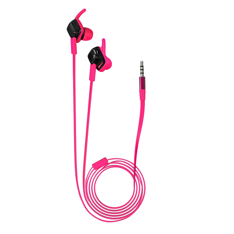 Jabees 2016 TPE Flat Cable IPX4 Waterproof Dual Headphone Jack Headphone Promotional