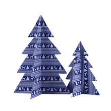 Paper Christmas tree table decoration