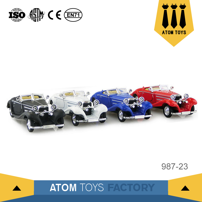 Home Decor 1:28 pull back metal vintage craft car miniature toys for wholesale cheap